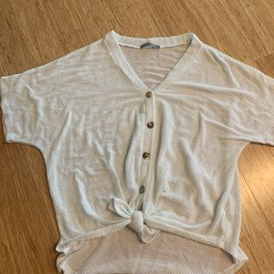 Forever 21 tie front tee